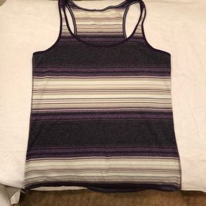 Lulu lemon striped workout top